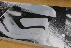 广告牌由WER-G2513UV大幅面UV打印机打印