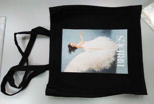 来自英国客户的黑色样品袋由dtg纺织品印花机印刷