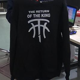 黑色毛衣印花样品由A2 T恤打印机WER-D4880T