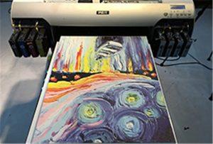 A2 UV打印机WER-EH4880UV的帆布样品