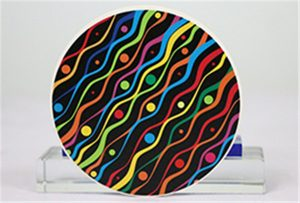 来自Rioch head uv WER-G2513UV的陶瓷印刷样品