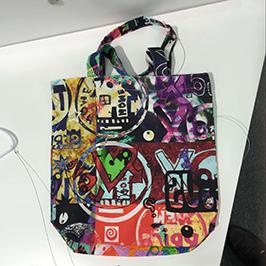 无纺布袋印刷样品由A1数码纺织印花机WER-EP6090T