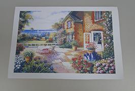 油画布由2.5米(8英尺)eco溶剂打印机WER-ES2501 2打印