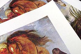 油画布由2.5米(8英尺)eco溶剂打印机WER-ES2501打印