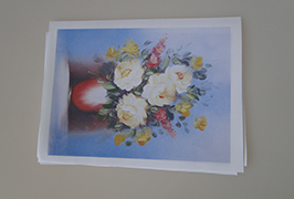 油画布由2.5米(8英尺)eco溶剂打印机WER-ES2502打印