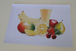 PVC横幅由3.2米(10英尺)eco溶剂打印机WER-ES3201打印