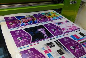 印刷样品的乙烯基 - 从-WER-EP6090UV打印机