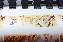 自粘式乙烯基由1.8米(6英尺)eco溶剂打印机WER-ES1802打印