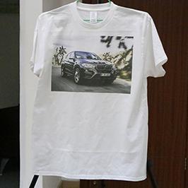 A3 T恤打印机WER-E2000T 2白色T恤印花样品
